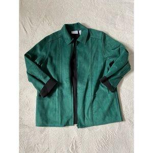 Emerald green suede coat